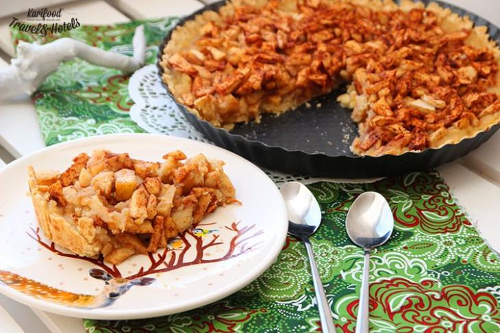 Яблочныйтартс имбирем рождественская выпечка
