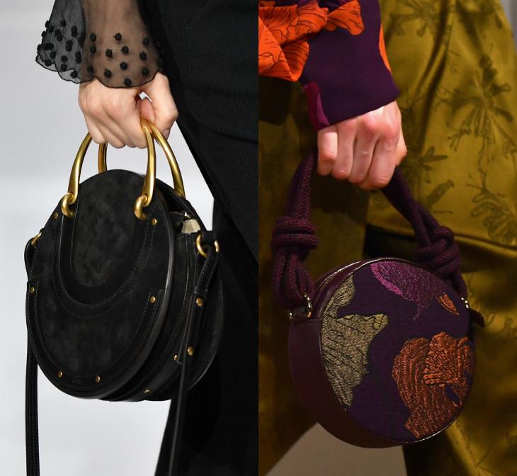 модные сумки 2018 в виде круга