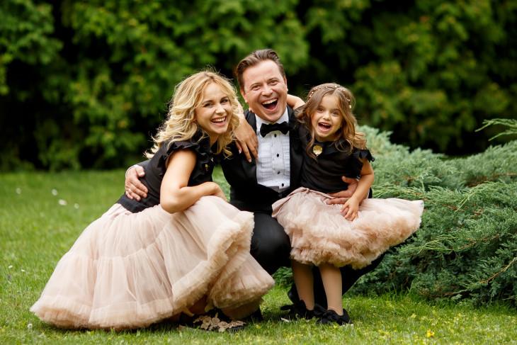 Лилия Ребрик с мужем и дочкой Дианой