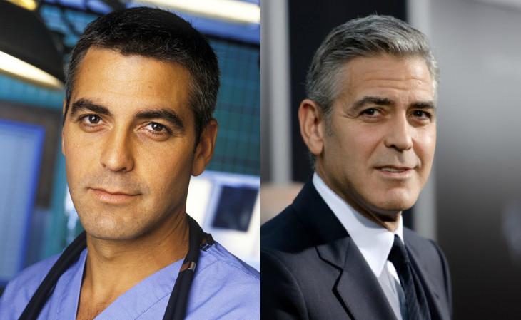 Джордж Клуни тогда и сейчас