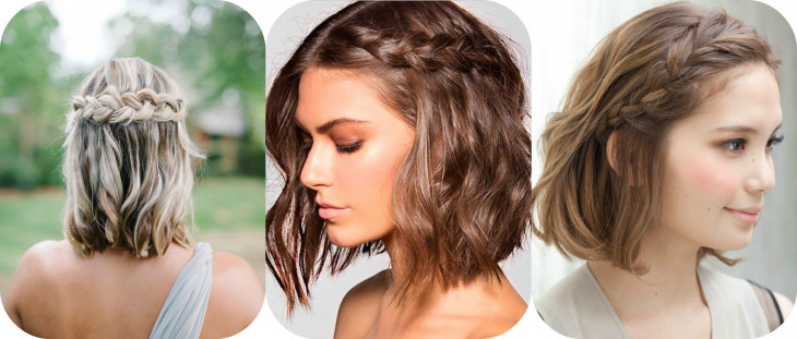 Легкие прически на коротких волосах фото