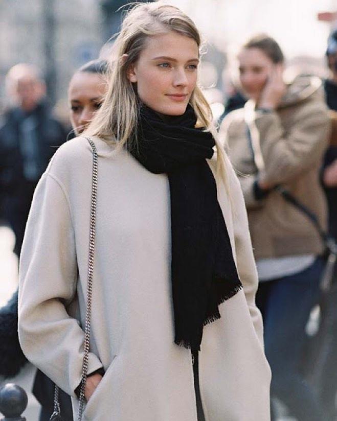 как завязывать шарф на пальто