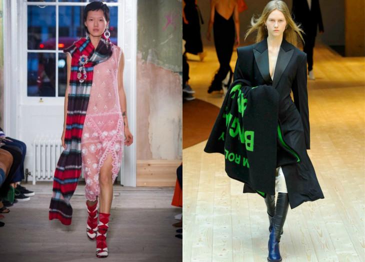 как носить шарф в 2018