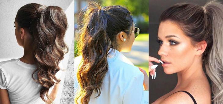 Модные прически: как носить хвост на вьющиеся волосы