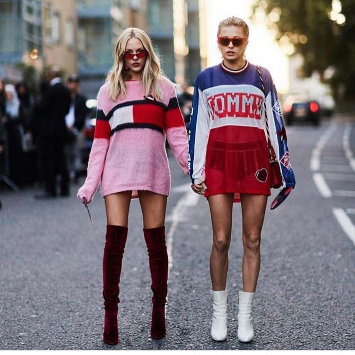 мода весна 2018 с чем носить высокие сапоги