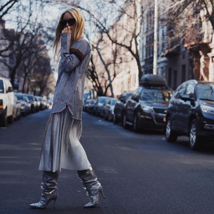 с чем носить высокие сапоги мода 2018