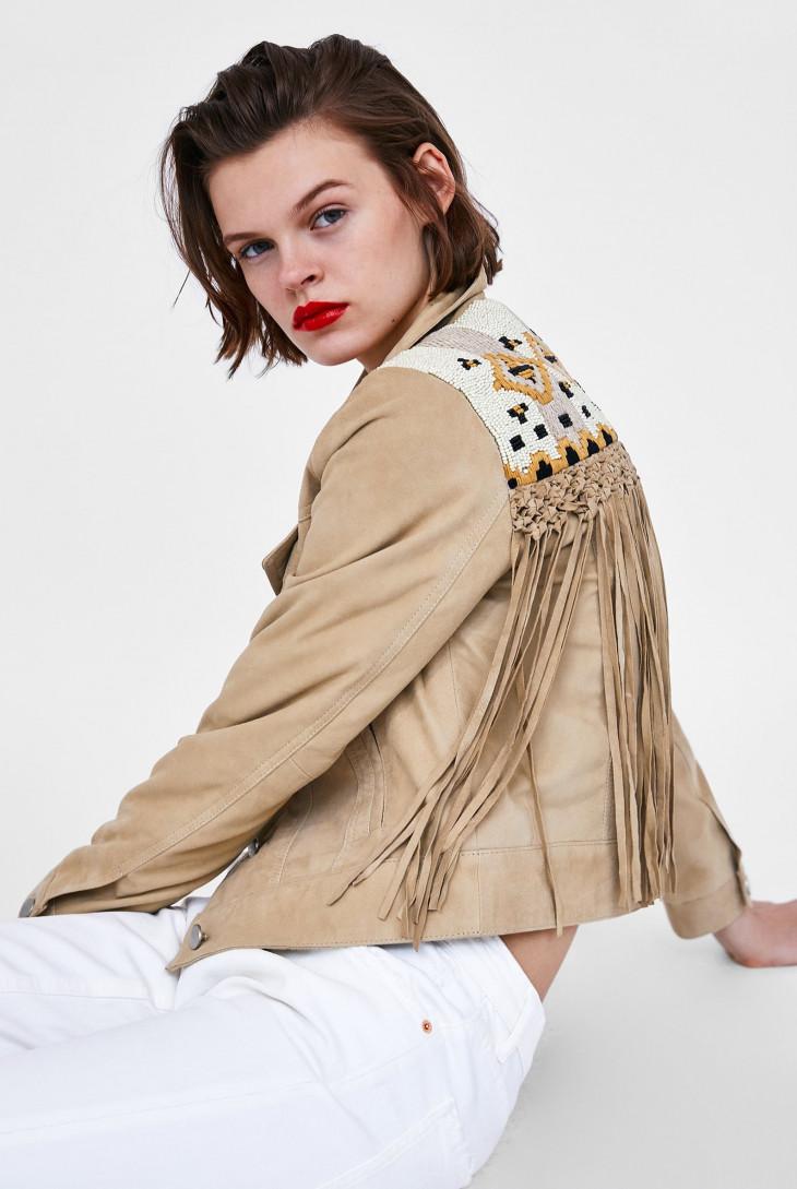 куртка с бахромой весна 2018