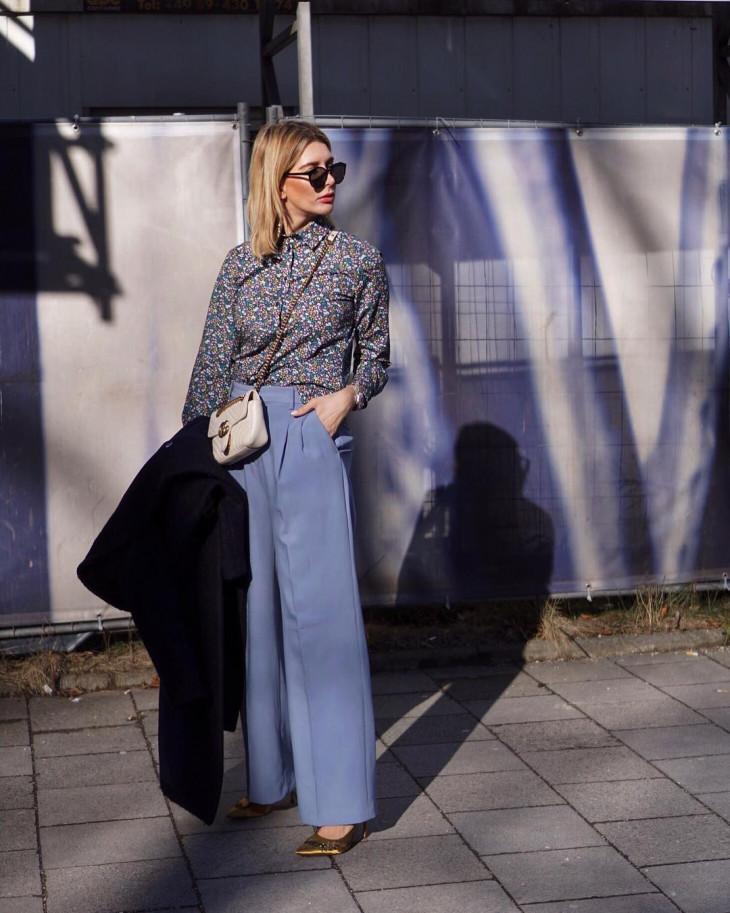 широкие брюки мода весна 2018