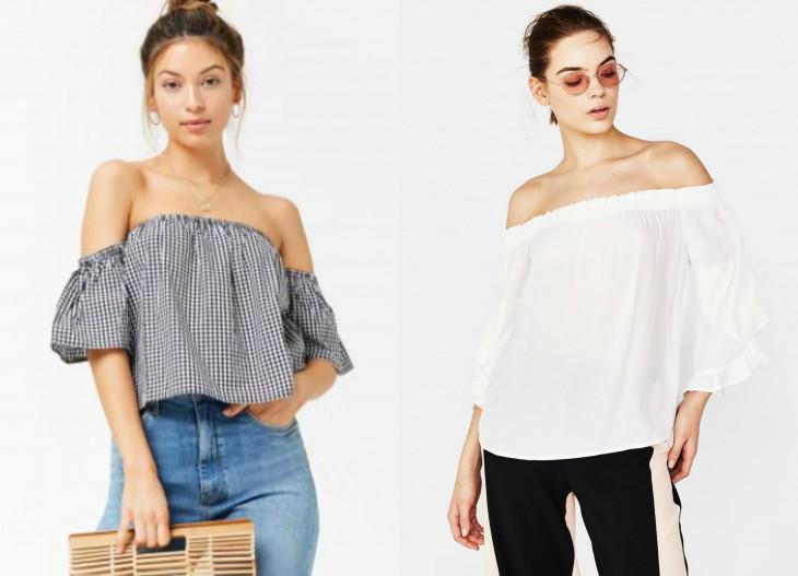 модные блузки без плеч весна 2018