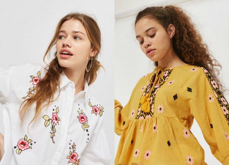 модные блузки с вышивкой весна 2018