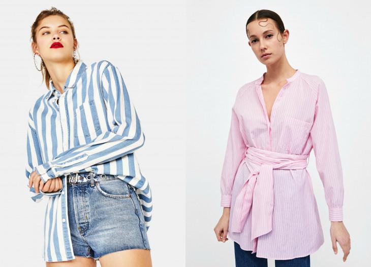 модные блузки в полоску весна 2018