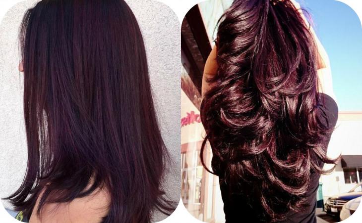 Баклажановый цвет волос