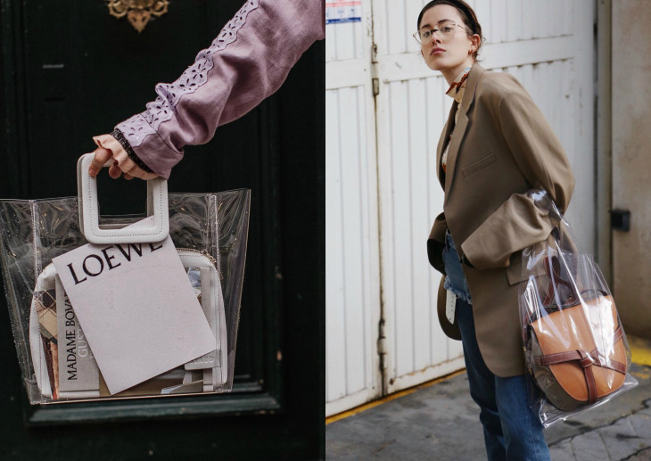 прозрачная сумка мода весна 2018