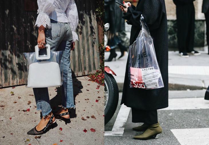 модная сумка из пластика
