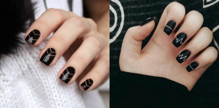 дизайн ногтей черный