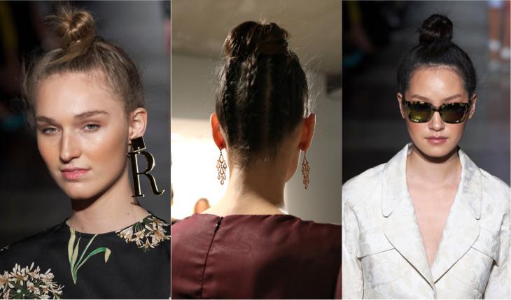 модные прически 2018 пучок