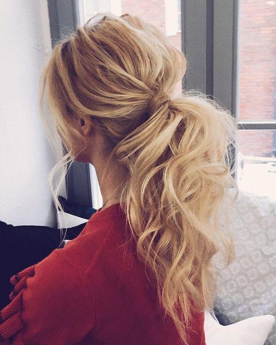 хвост на длинные волосы
