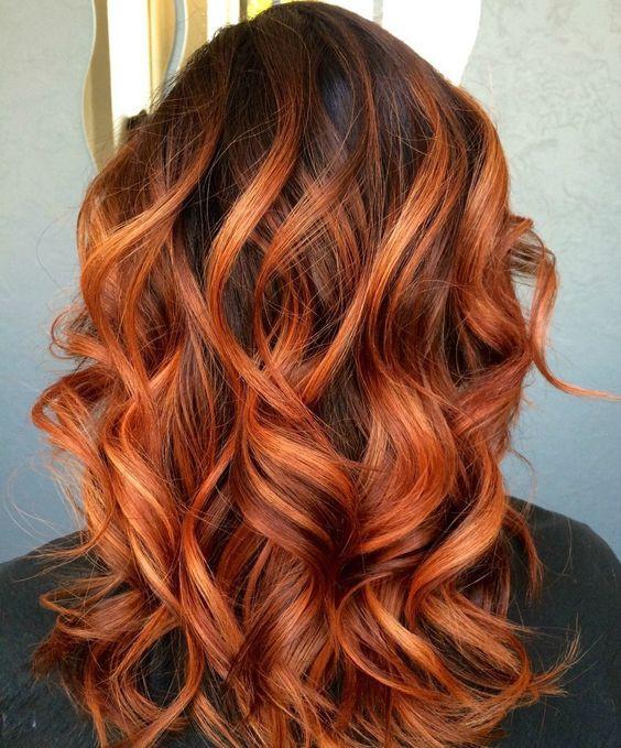 мелирование на рыжие волосы фото
