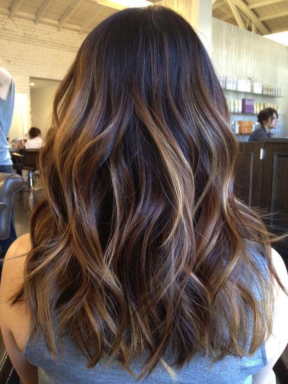 мелирование на коричневый цвет волос