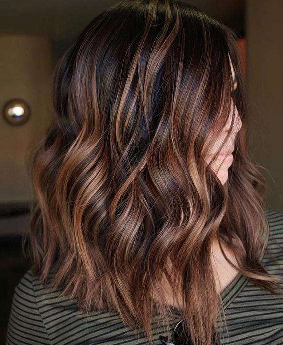 мелирование на коричневые крашеные волосы
