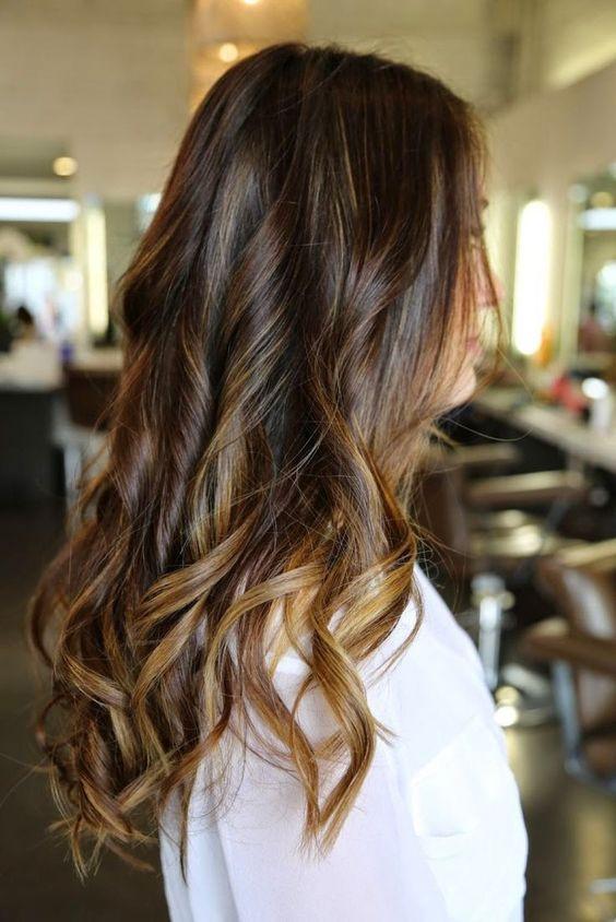 мелирование на коричневы волосы