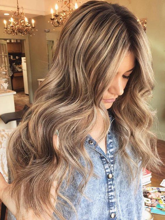 мелирование на коричневы волосы 2018