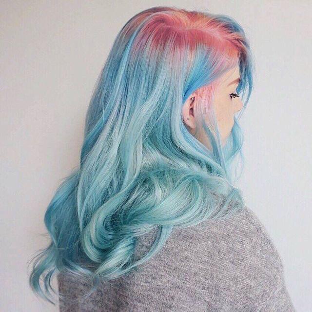 окрашивание волос 2018 цветные корни