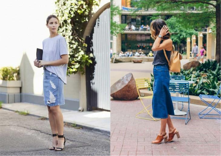 джинсовая юбка тренд