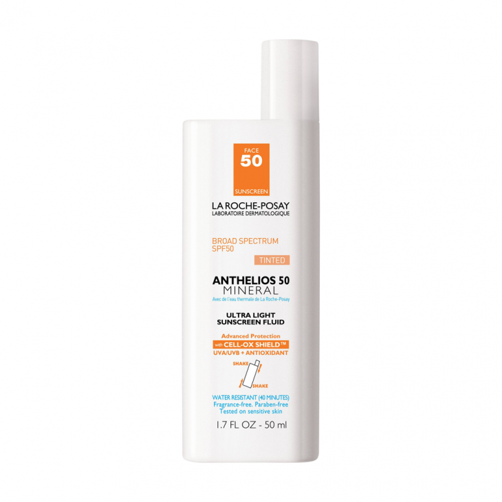 Anthelios 50 Mineral Tinted Ultra-Light Sunscreen Fluid от La Roche-Posay