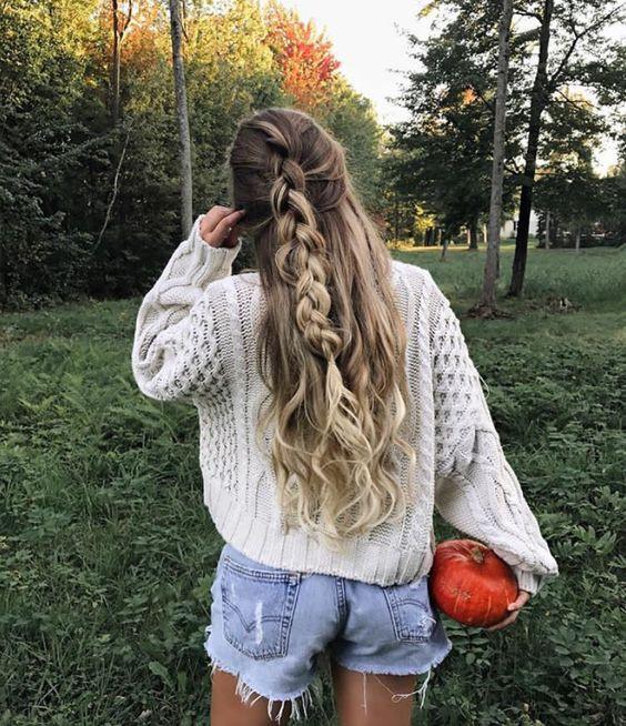 французская коса мальвинка