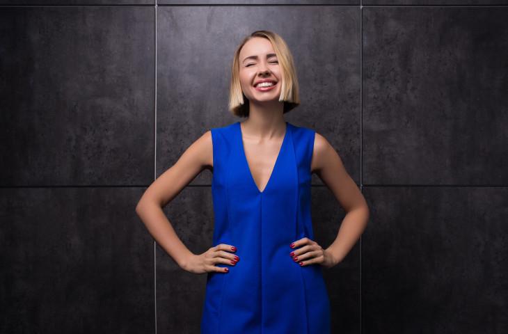 Маша Виноградова улыбка