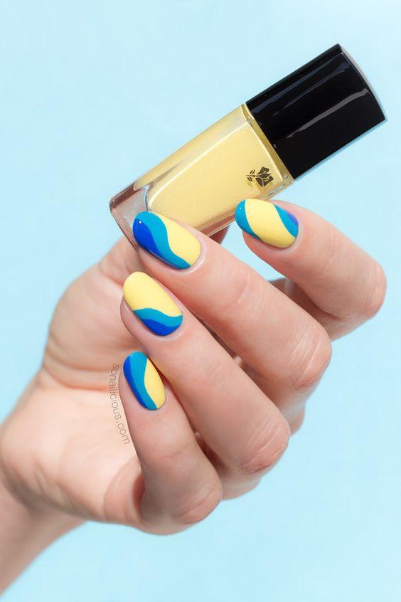 желтые ногти маникюр