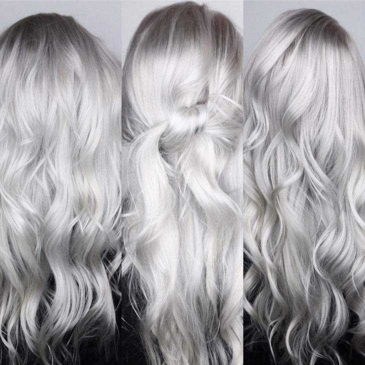 серебристый блонд 2018