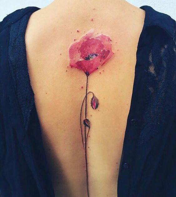 татуировки женские в акварельном стиле