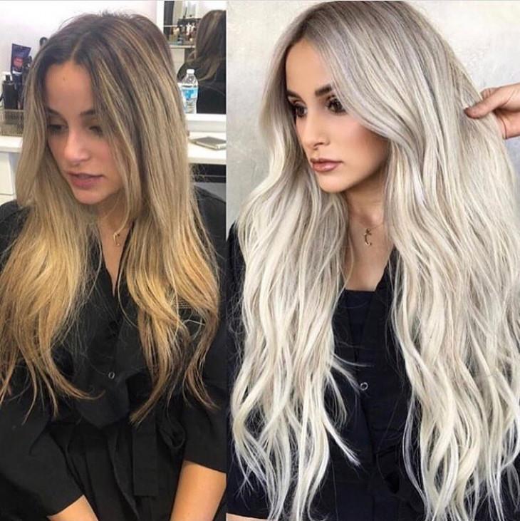 жемчужный цвет волос