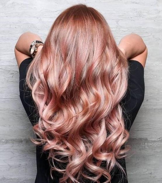 Жемчужный блонд на рыжих волосах