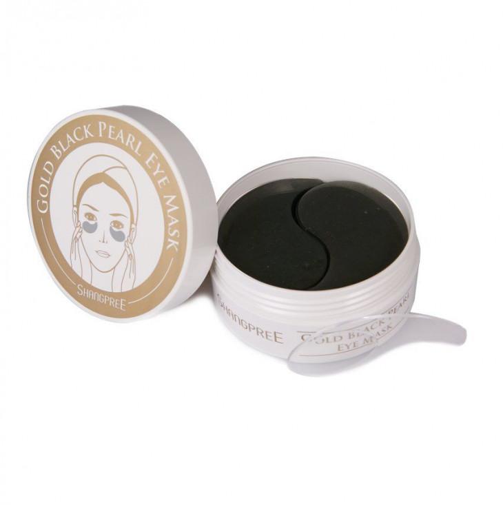 корейская косметика - Shangpree Gold Black Pearl Hydrogel Eye Masks