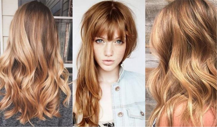 золотой и медный цвет волос