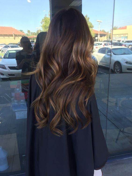 Колорирование на темно-русые волосы на осень
