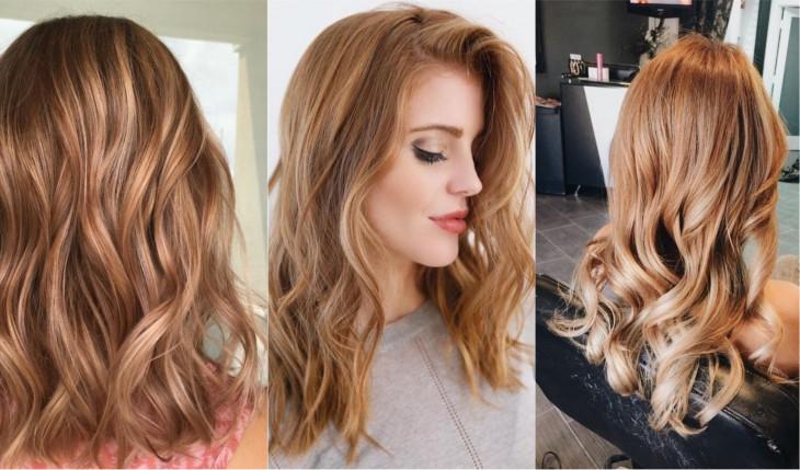 модный цвет волос карамельный
