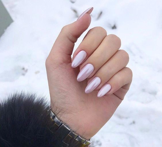 дизайн ногтей жемчуг на осень