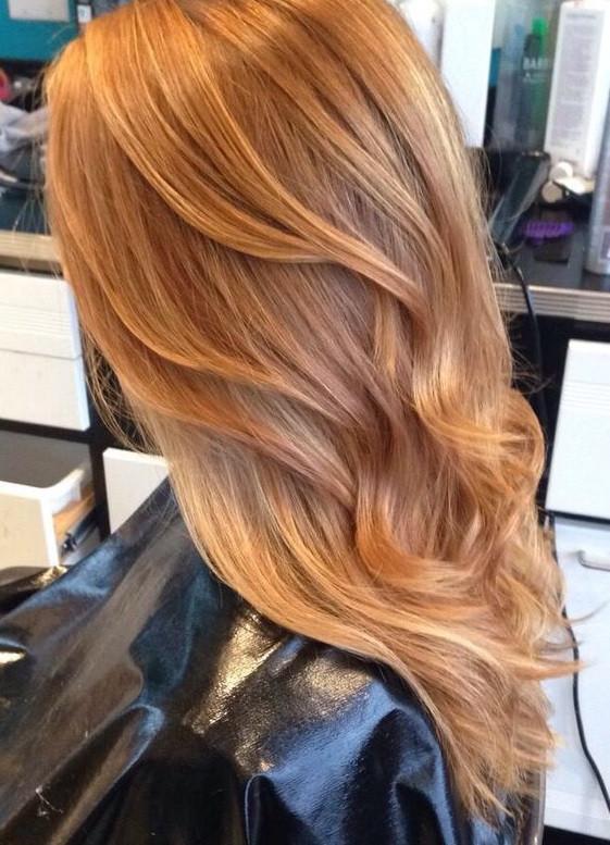 цвет волос карамель