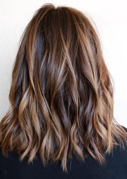 красивое колорирование на темно-русые волосы