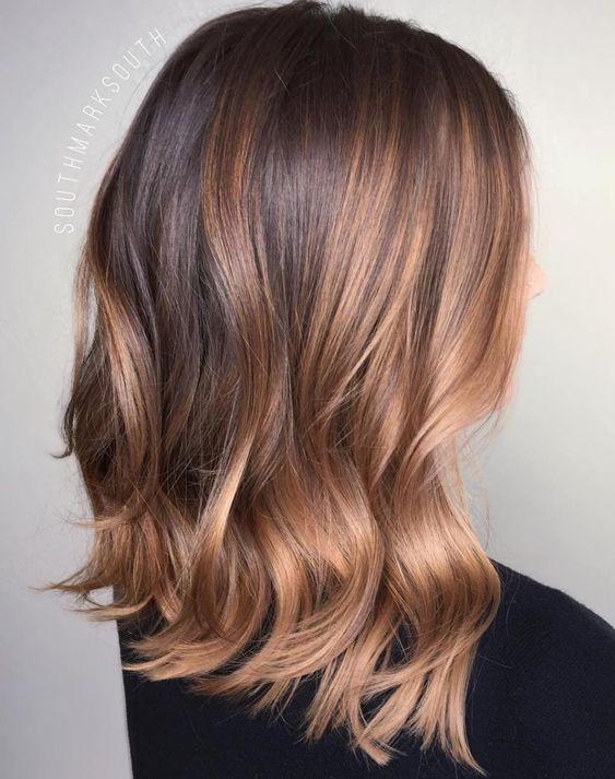 цвет волос темная карамель