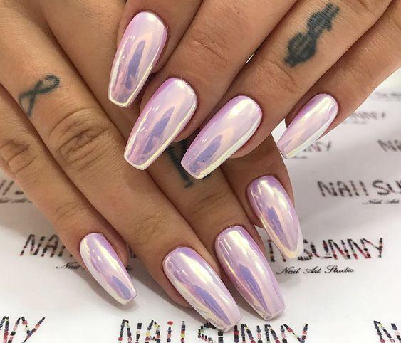 дизайн ногтей жемчуг 2018