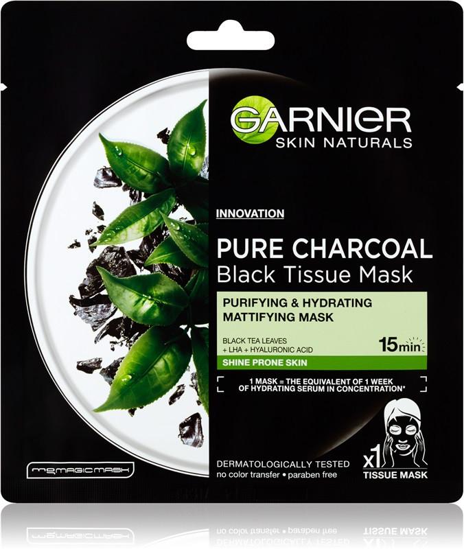 Pure Charcoal Tissue Mask от Garnier лучшие тканевые маски