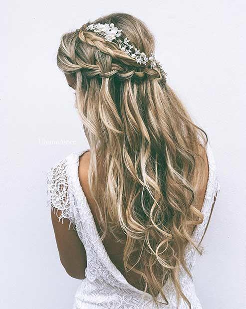 свадебная прическа с плетением для длинных волос
