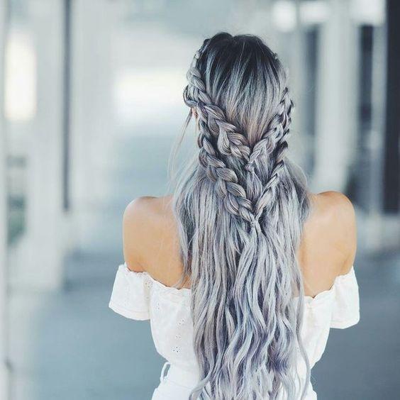 свадебная прическа с плетением на длинные волосы 1