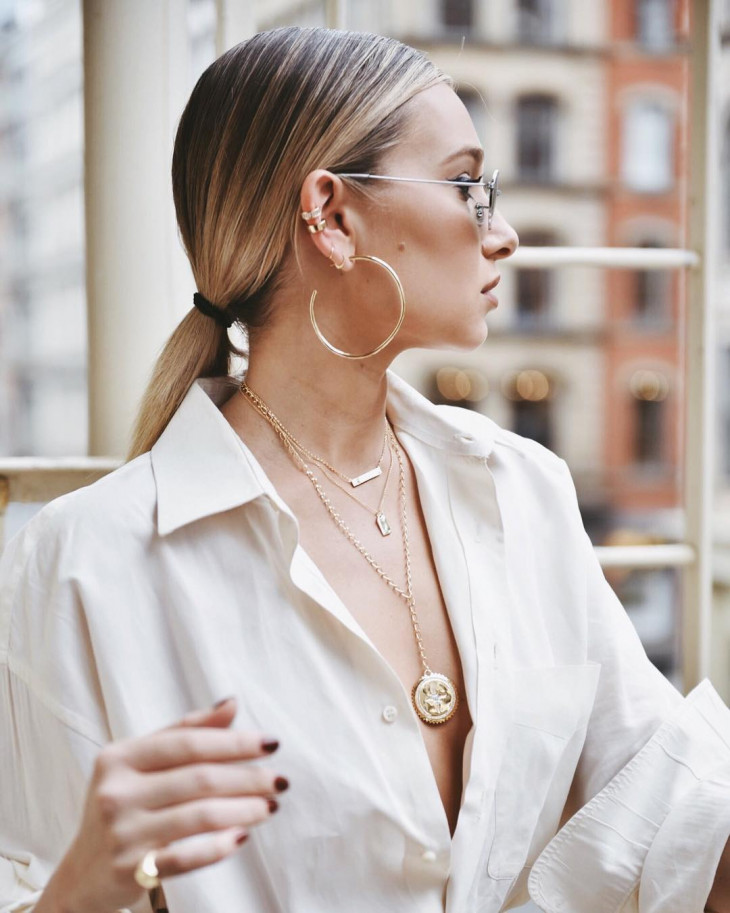 модные серьги-кольца 2