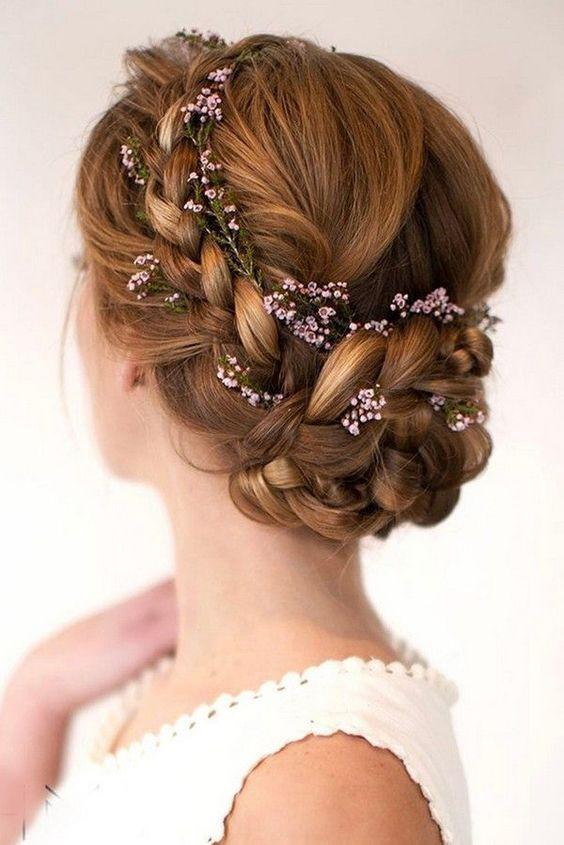 свадебные прически плетение на длинные волосы 1